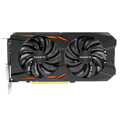 GIGABYTE GeForce GTX 1050 Ti Windforce OC 4G (GV-N105TWF2OC-4GD) фото 1 магазина компьютерной техники luckylink.kiev.ua.