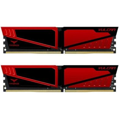 TEAM 8 GB (2x4GB) DDR4 3200 MHz T-Force Vulcan Red (TLRED48G3200HC16CDC01)