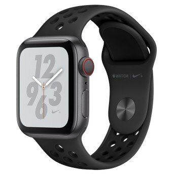 APPLE WATCH NIKE + SERIES 4 (GPS+4G) 40mm SPACE GRAY ALUMINUM CASE WITH ANTRACITE / BLACK NIKE SPORT BAND (MTX82)