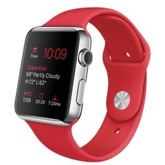 Apple Watch 42mm Stailnless Steel Case with PRODUCT RED Sport Band (MLLE2)
